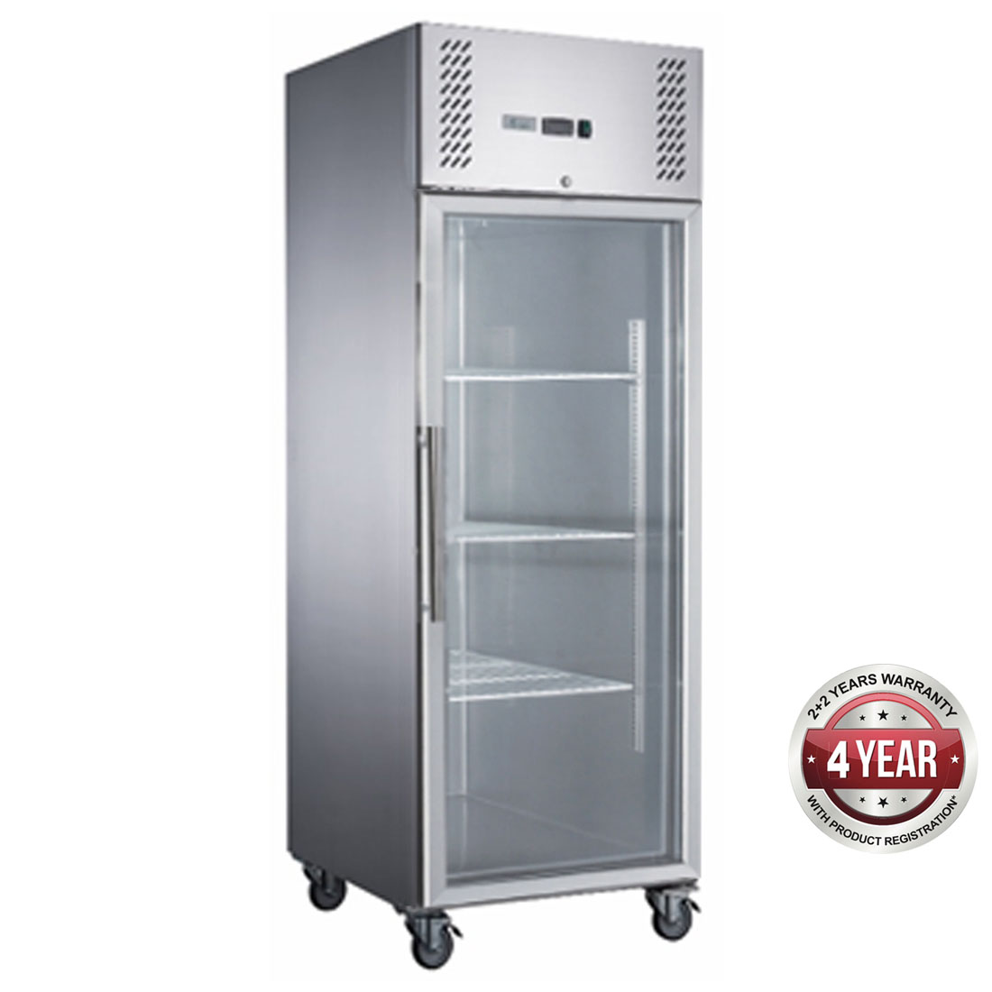 FED-X S/S Full Glass Door Upright Freezer - XURF600G1V