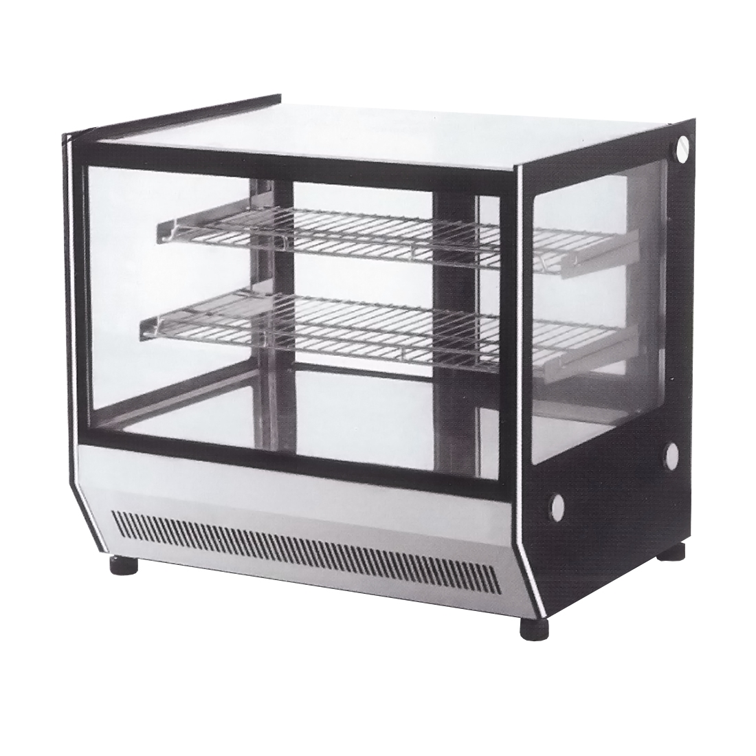 Counter top square glass cold food display - GN-900RT