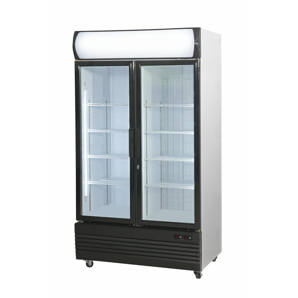 Double Door Upright Glass Door Combined Fridge & Freezer LG-1000GEF