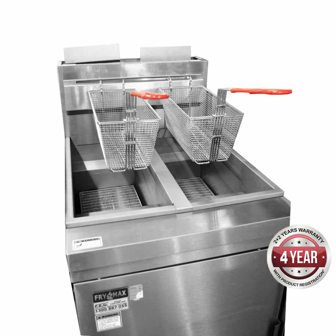 RC400TELPG - Superfast LPG Gas Tube Twin Vat Fryer