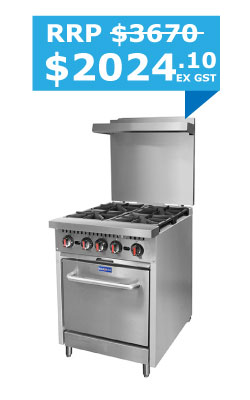 Gasmax 4 Burner with Oven