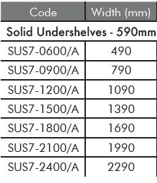 sus7 solid undershelf